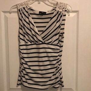 IZ Byer striped sleeveless shirt